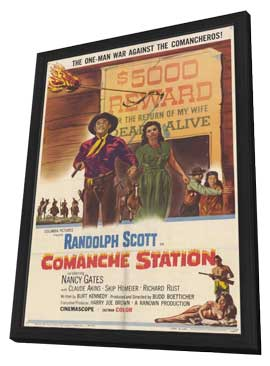 Comanche Station - 11 x 17 Movie Poster - Style A - in Deluxe Wood Frame