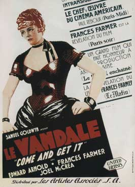Come and Get It - 27 x 40 Movie Poster - French Style A
