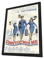 Come Fly With Me - 27 x 40 Movie Poster - Style A - in Deluxe Wood Frame