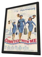 Come Fly With Me - 11 x 17 Movie Poster - Style B - in Deluxe Wood Frame