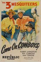 Come On, Cowboys - 11 x 17 Movie Poster - Style A