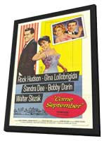 Come September - 11 x 17 Movie Poster - Style A - in Deluxe Wood Frame