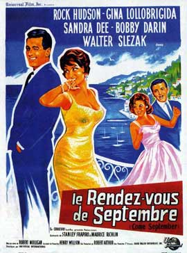 Come September - 11 x 17 Movie Poster - French Style A