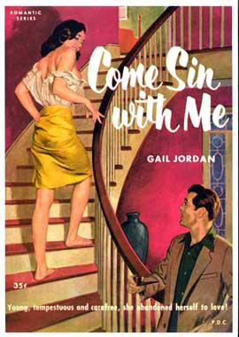 Come Sin With Me - 11 x 17 Retro Book Cover Poster