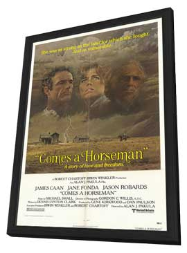 Comes a Horseman - 11 x 17 Movie Poster - Style A - in Deluxe Wood Frame