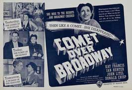 Comet Over Broadway - 11 x 14 Movie Poster - Style A