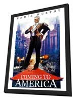 Coming to America - 27 x 40 Movie Poster - Style B - in Deluxe Wood Frame
