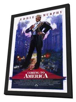 Coming to America - 11 x 17 Movie Poster - Style A - in Deluxe Wood Frame