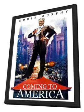 Coming to America - 11 x 17 Movie Poster - Style C - in Deluxe Wood Frame