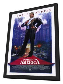 Coming to America - 27 x 40 Movie Poster - Style A - in Deluxe Wood Frame