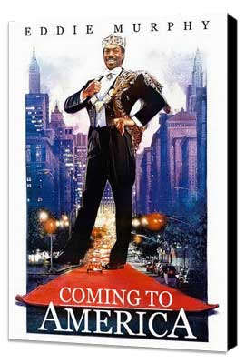 Coming to America - 27 x 40 Movie Poster - Style B - Museum Wrapped Canvas