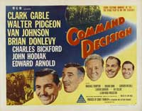 Command Decision - 22 x 28 Movie Poster - Half Sheet Style A