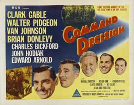 Command Decision - 22 x 28 Movie Poster - Half Sheet Style B