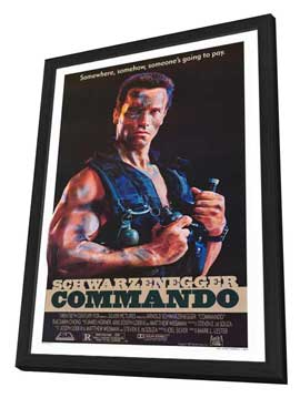 Commando - 27 x 40 Movie Poster - Style A - in Deluxe Wood Frame