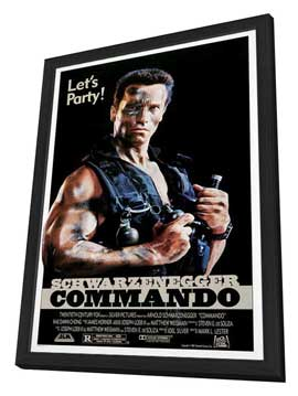 Commando - 27 x 40 Movie Poster - Style C - in Deluxe Wood Frame