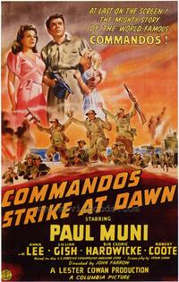 Commandos Strike at Dawn - 43 x 62 Movie Poster - Bus Shelter Style A