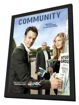 Community (TV) - 11 x 17 TV Poster - Style B - in Deluxe Wood Frame
