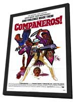 Companeros - 11 x 17 Movie Poster - Style A - in Deluxe Wood Frame