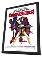 Companeros - 27 x 40 Movie Poster - Style A - in Deluxe Wood Frame