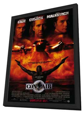 Con Air - 11 x 17 Movie Poster - Style B - in Deluxe Wood Frame