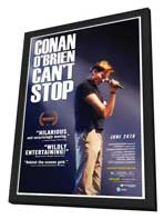 Conan O'Brien Can't Stop - 27 x 40 Movie Poster - Style A - in Deluxe Wood Frame
