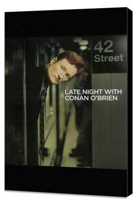 Conan O'Brien - 11 x 17 TV Poster - Style A - Museum Wrapped Canvas