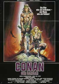 Conan the Barbarian - 11 x 17 Movie Poster - German Style B