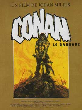 Conan the Barbarian - 11 x 17 Movie Poster - French Style B