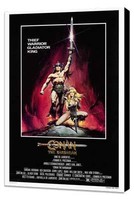 Conan the Barbarian - 27 x 40 Movie Poster - Style A - Museum Wrapped Canvas
