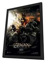 Conan the Barbarian - 27 x 40 Movie Poster - Style B - in Deluxe Wood Frame