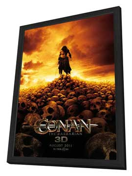 Conan the Barbarian - 27 x 40 Movie Poster - Style A - in Deluxe Wood Frame