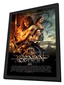 Conan the Barbarian - 27 x 40 Movie Poster - Style I - in Deluxe Wood Frame