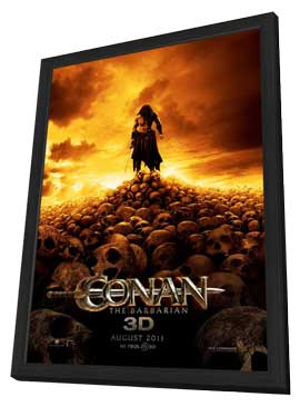 Conan the Barbarian - 11 x 17 Movie Poster - Style A - in Deluxe Wood Frame