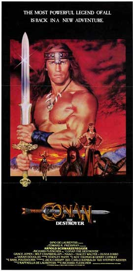 Conan the Destroyer - 11 x 17 Movie Poster - Style B