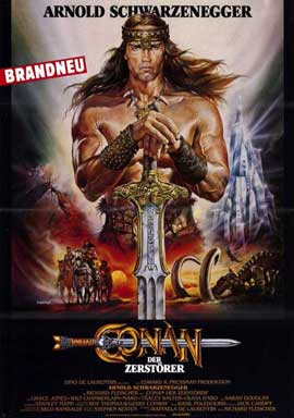 Conan the Destroyer - 11 x 17 Movie Poster - German Style A