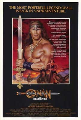 Conan the Destroyer - 27 x 40 Movie Poster - Style A