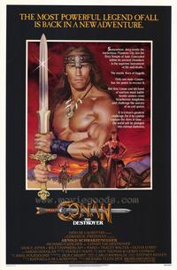 Conan the Destroyer - 43 x 62 Movie Poster - Bus Shelter Style A