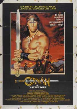 Conan the Destroyer - 27 x 40 Movie Poster - Italian Style A