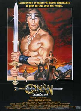 Conan the Destroyer - 11 x 17 Movie Poster - French Style A
