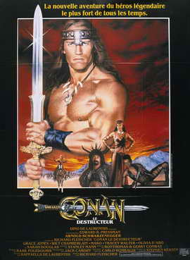 Conan the Destroyer - 27 x 40 Movie Poster - French Style A