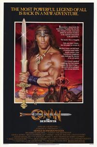 Conan the Destroyer - 11 x 17 Movie Poster - Style A - Museum Wrapped Canvas