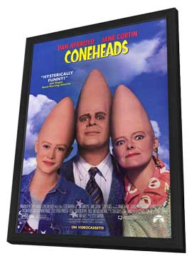 Coneheads - 27 x 40 Movie Poster - Style B - in Deluxe Wood Frame