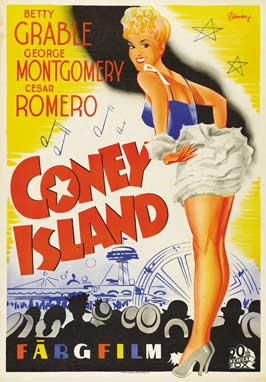 Coney Island - 27 x 40 Movie Poster - German Style A