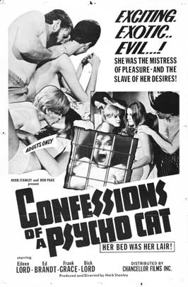Confessions of a Psycho Cat - 27 x 40 Movie Poster - Style A