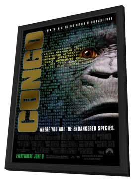 Congo - 27 x 40 Movie Poster - Style A - in Deluxe Wood Frame