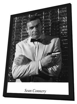 Sean Connery - 11 x 17 Movie Poster - Style B - in Deluxe Wood Frame