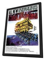 Conquest of the Planet of the Apes - 27 x 40 Movie Poster - Style A - in Deluxe Wood Frame