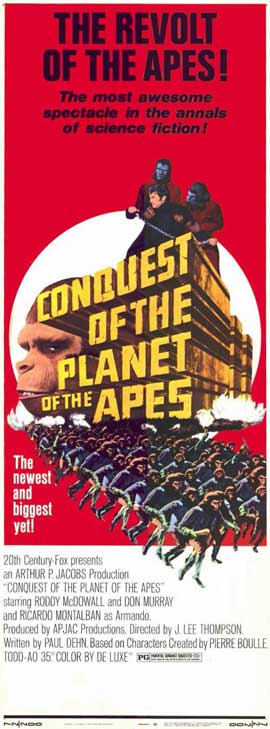 Conquest of the Planet of the Apes - 11 x 17 Movie Poster - Style B