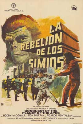 Conquest of the Planet of the Apes - 27 x 40 Movie Poster - Spanish Style A