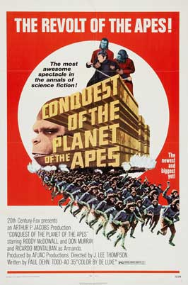 Conquest of the Planet of the Apes - 11 x 17 Movie Poster - Style D